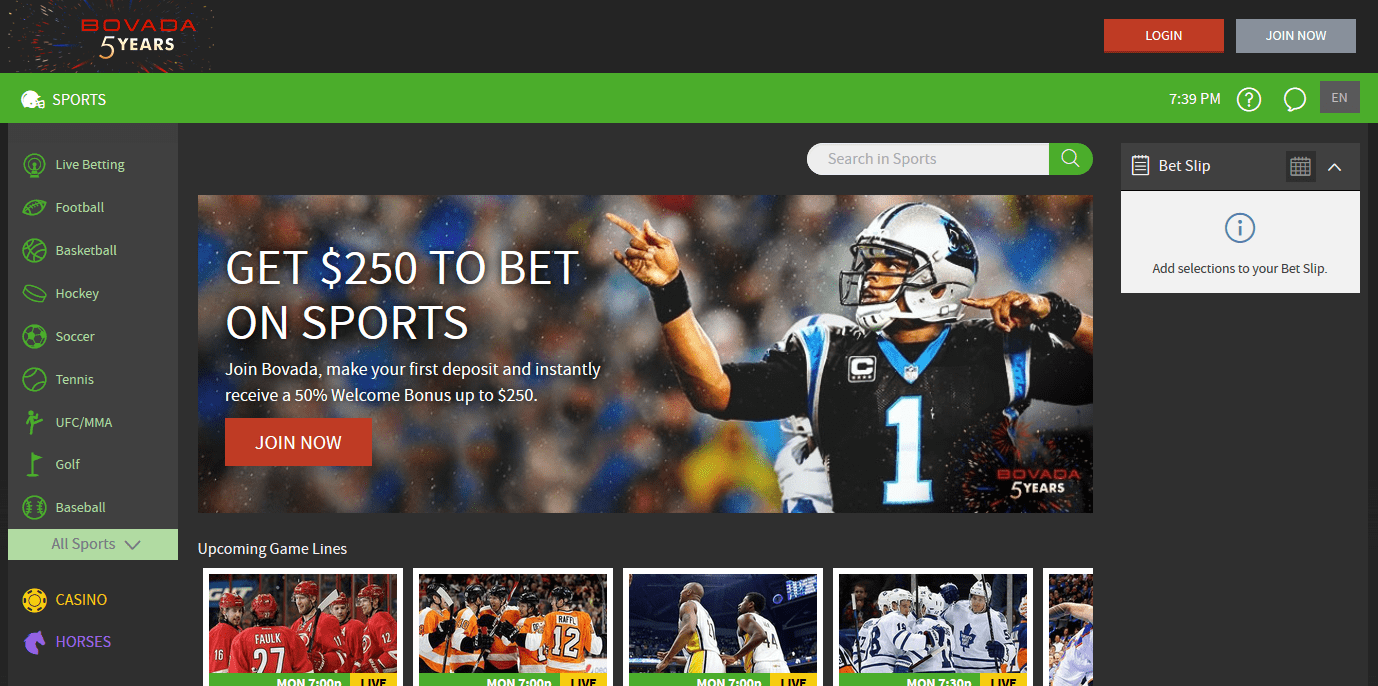 line on superbowl bovada login